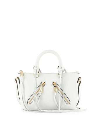 Micro Moto Satchel Bag, White