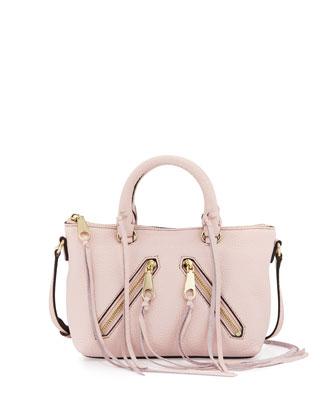 Micro Moto Satchel Bag, Baby Pink
