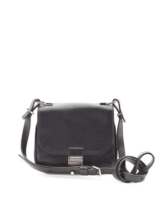 Kent Tiny Vachetta Messenger Bag, Black