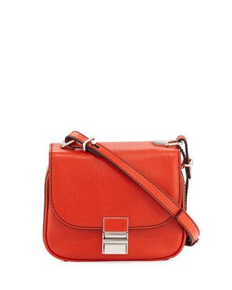 Kent Tiny Vachetta Messenger Bag, Fire Red