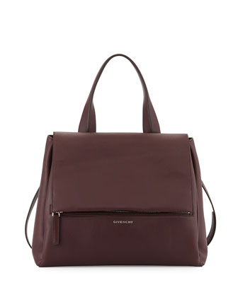 Pandora Pure Medium Leather Satchel Bag, Oxblood