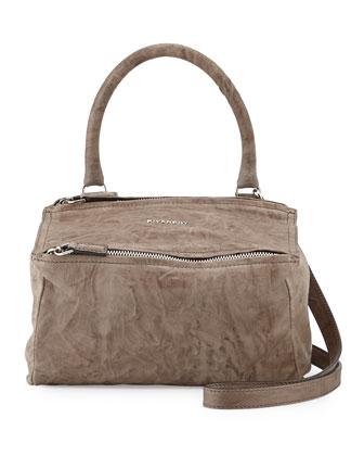 Pandora Small Satchel Bag, Charcoal