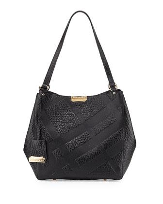 Canterbury Small Grain Check Shopper Bag, Black