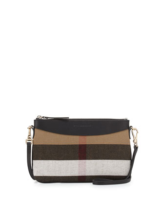 Peyton House Check Crossbody Bag, Black