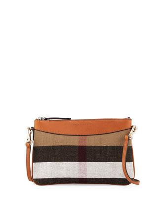 Peyton House Check Crossbody Bag, Saddle Brown