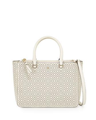 Robinson Small Perforated Multi Tote Bag, New Ivory