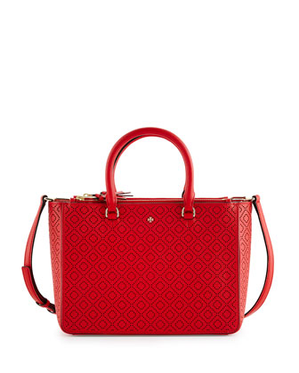Robinson Perforated Small Multi Tote Bag, Vermilion