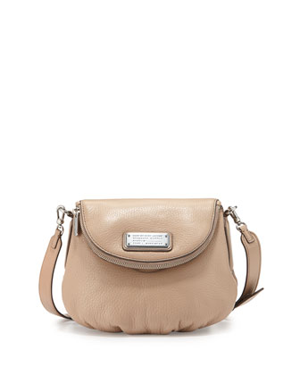 New Q Zipper Natasha Mini Bag, Cameo Nude