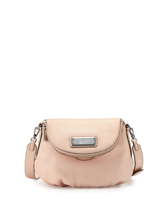 New Q Zipper Natasha Mini Bag, Blush