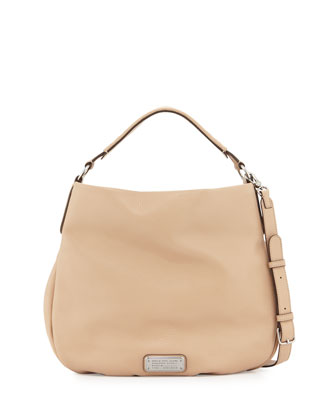 New Q Hillier Hobo Bag, Cameo Nude