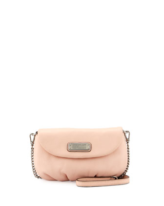 New Q Karlie Leather Crossbody Bag, Pearl Blush