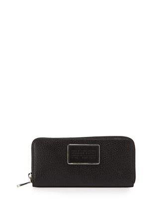 Ligero Slim Zip Around Wallet, Black
