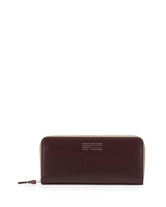 Quintessential Colorblock Slim Wallet, Cardamom Multi