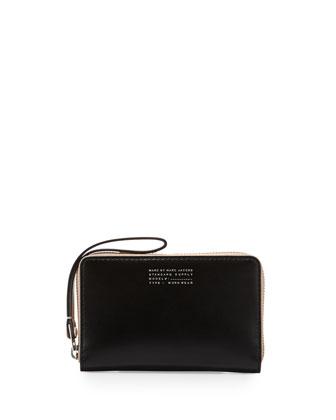 Quintessential Colorblocked Wingman Zip Wallet, Black Multi
