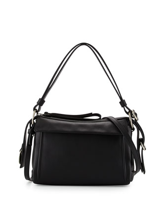 Prism 24 Leather Shoulder Bag, Black