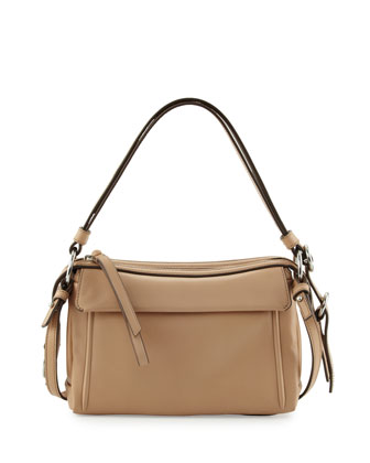 Prism 24 Leather Shoulder Bag, Cameo Nude