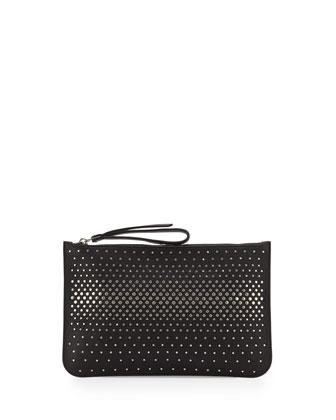 The Roxy Degrade Stud Clutch Bag, Black