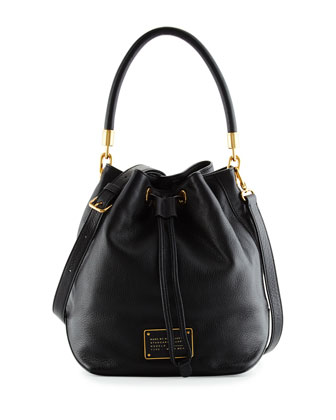 Too Hot to Handle Bucket Bag, Black