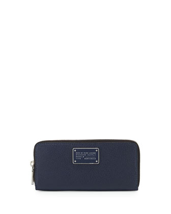 New Too Hot Too Handle Slim Zip-Around Wallet, Amalfi Coast