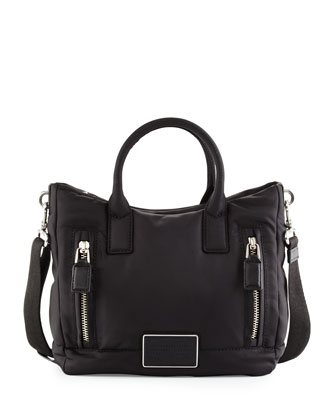 Palma Nylon East-West Tote Bag, Black