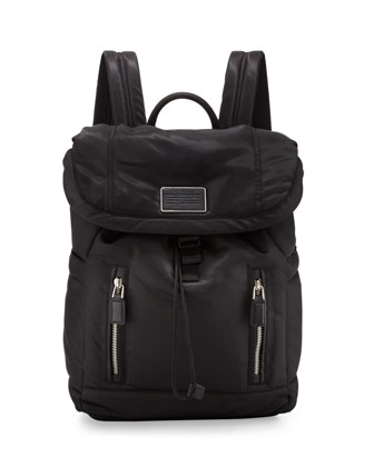 Palma Nylon Backpack, Black