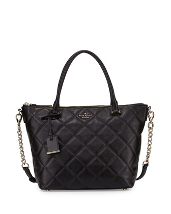 emerson place gina small tote bag, black