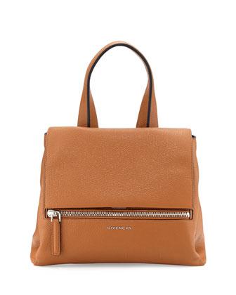 Pandora Pure Small Bicolor Satchel Bag, Black/Brown