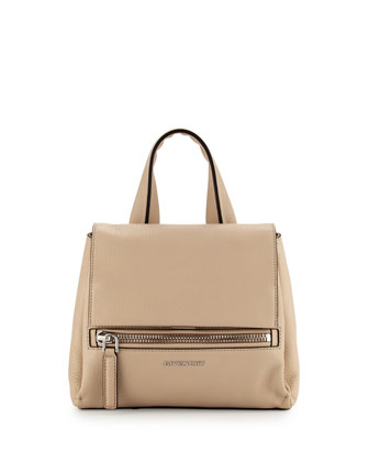Pandora Pure Mini Waxy Satchel Bag, Cream