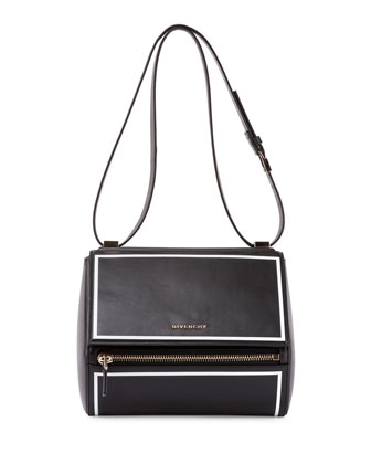 Pandora Box Medium Shoulder Bag, Black