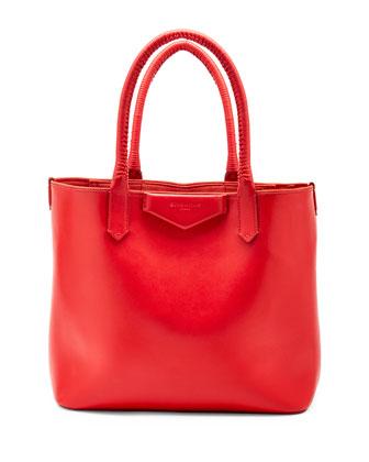 Antigona Whipstitch-Handle Tote Bag, Red