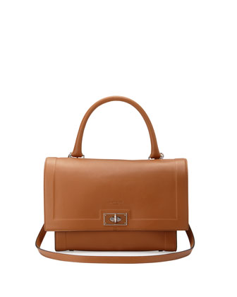 Shark Small Bicolor Satchel Bag, Brown/Black