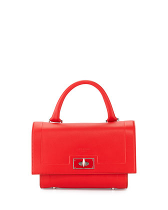 Shark Small Waxy Satchel Bag, Red