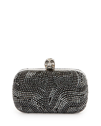 Classic Art Deco Crystal Skull Clutch Bag