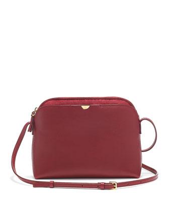 Multi-Pouch Calfskin Crossbody Bag, Beet