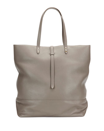 Granada Leather North-South Tote Bag, Dust