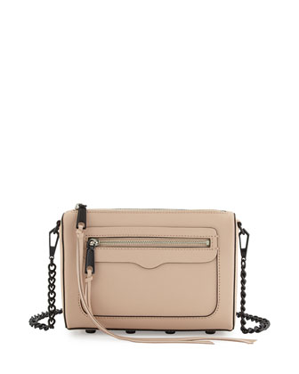 Avery Leather Crossbody Bag, Latte