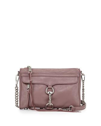 Mini MAC Fringe Clutch Bag, Mauve