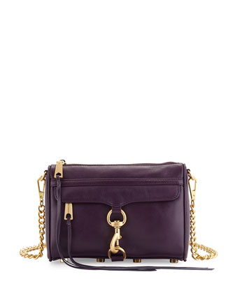 Mini MAC Clutch Bag, Aubergine