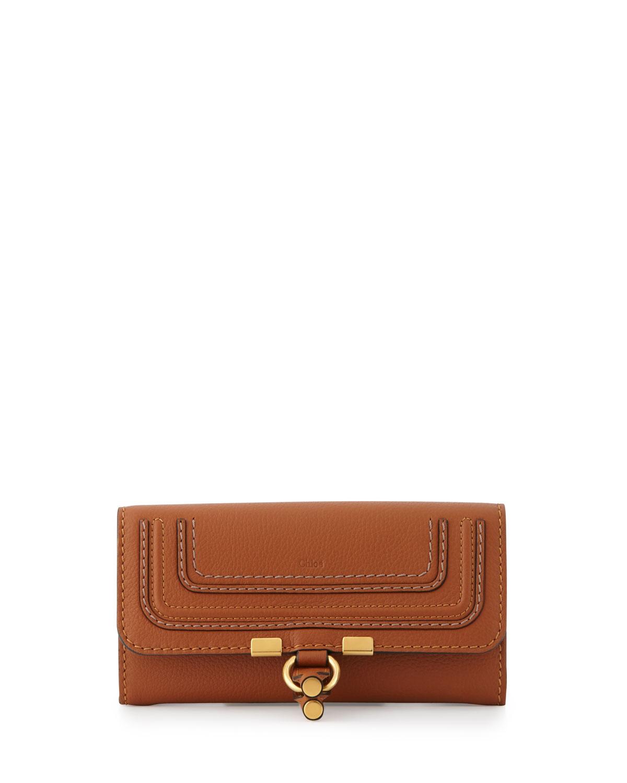 Marcie Continental Flap Wallet, Tan - Chloe