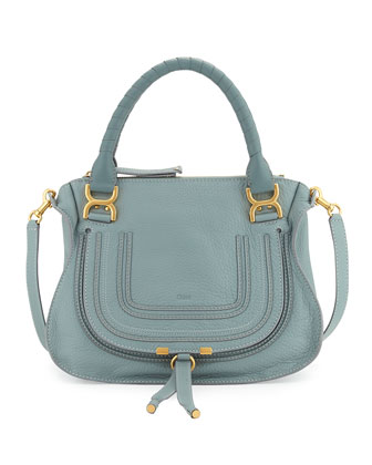 Marcie Medium Satchel Bag, Light Blue