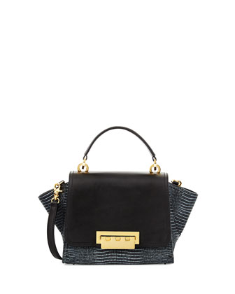 Eartha Mini Crossbody Leather Bag, Black