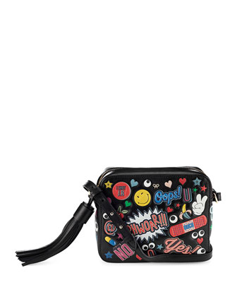 All Over Wink Crossbody Bag, Black
