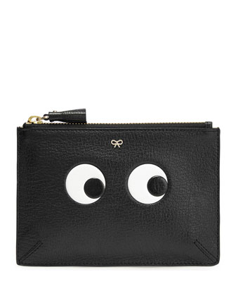 Small Eyes Pocket Pouch, Black