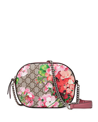 Blooms GG Supreme Mini Chain Crossbody Bag