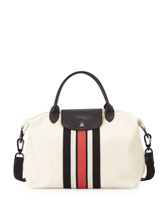 Ruban d'Or Medium Canvas Satchel Bag