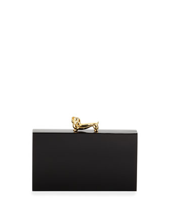 Dachshund Pandora Clutch Bag, Black