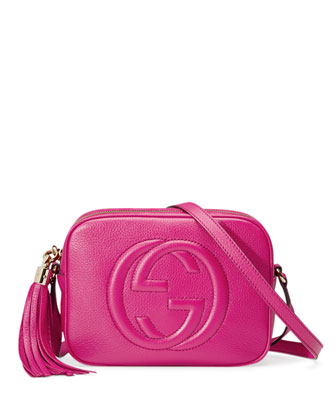 Soho Crossbody Camera Bag, Bright Pink