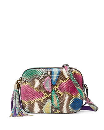 Soho Small Python Camera Crossbody Bag, Multi