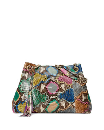 Soho Medium Python Tote Bag, Multi