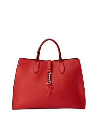 Jackie Soft Medium Tote Bag, Red